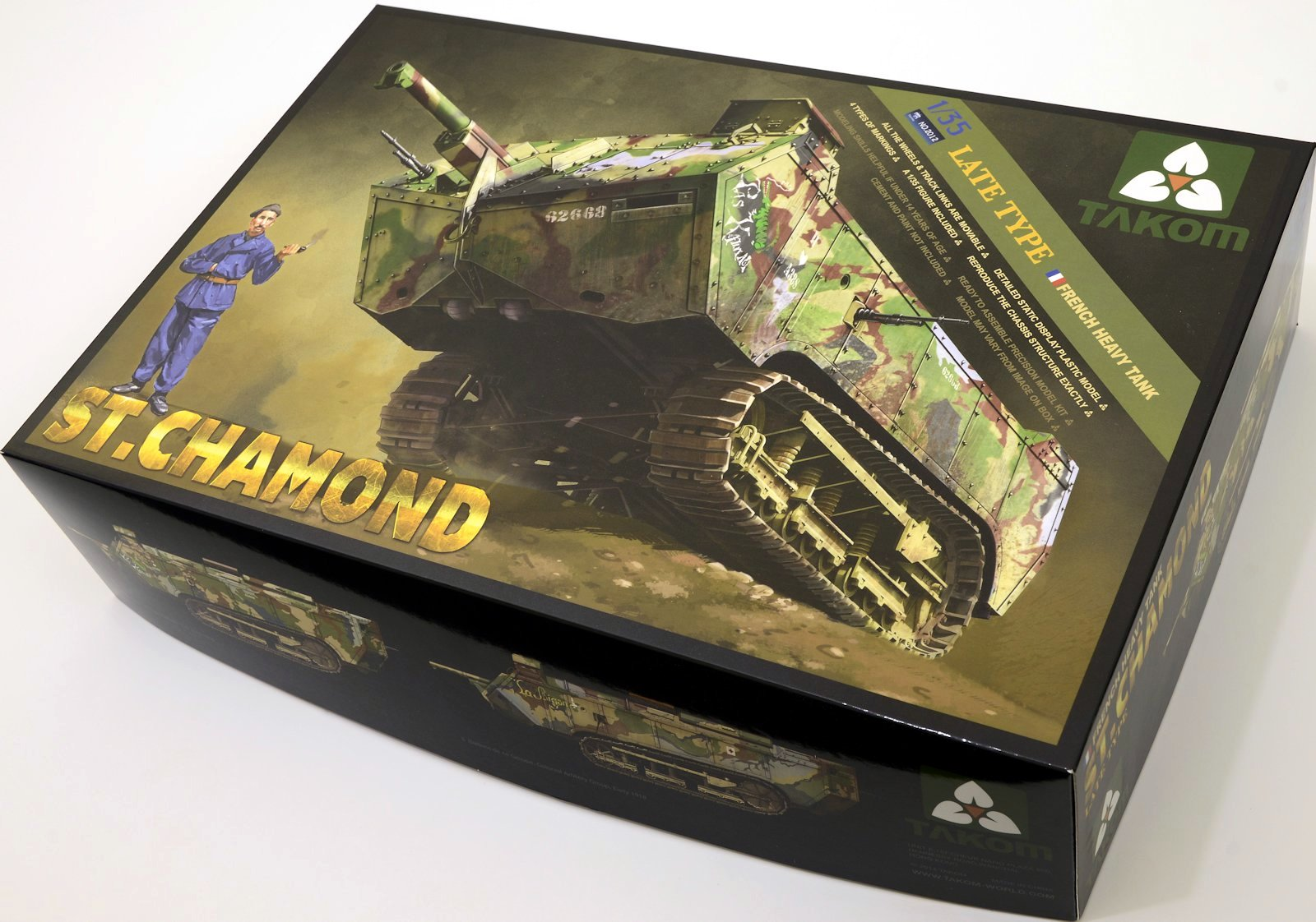 Takom's late St.Chamond 35th scale review.