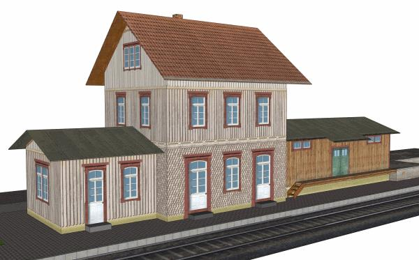 Free Scale Paper House Papermau: PAPERMAU: Dettingen An Der Erms Train Station Paper Model