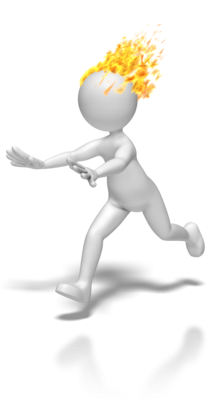 Animated stick figures running