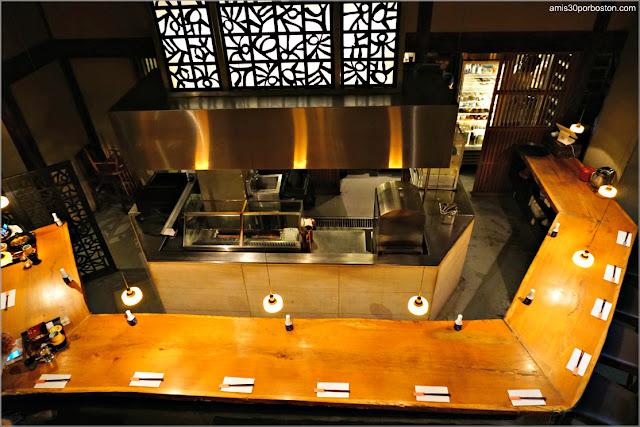 Barra del Restaurante Japonés Ootoya Chelsea en Nueva York