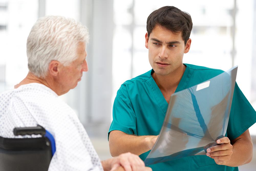 nurse explains lung x ray COPD