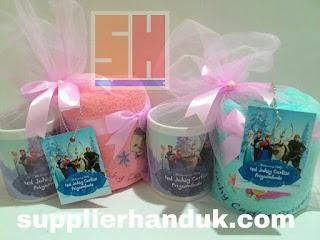 pita kain satin pada aneka souvenir mug printing dan handuk