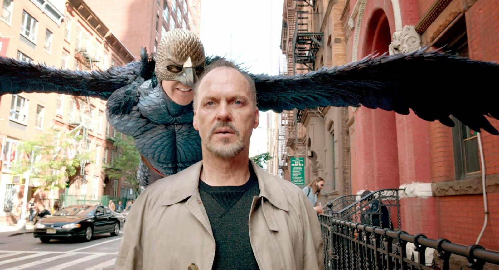 Michael Keaton as Riggan Thomas in Birdman (2014), Birdman's voice talking to Riggan, Directed by Alejandro González Iñárritu, Oscar-winning film