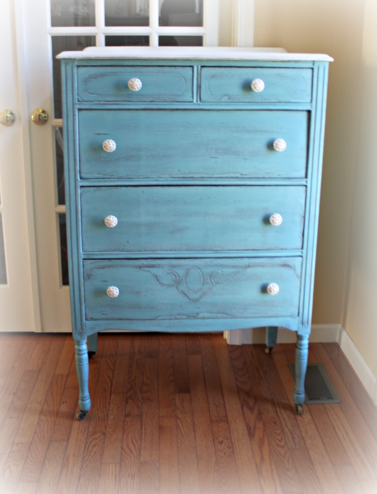 1920s dresser painted in Provence blue and Old White.