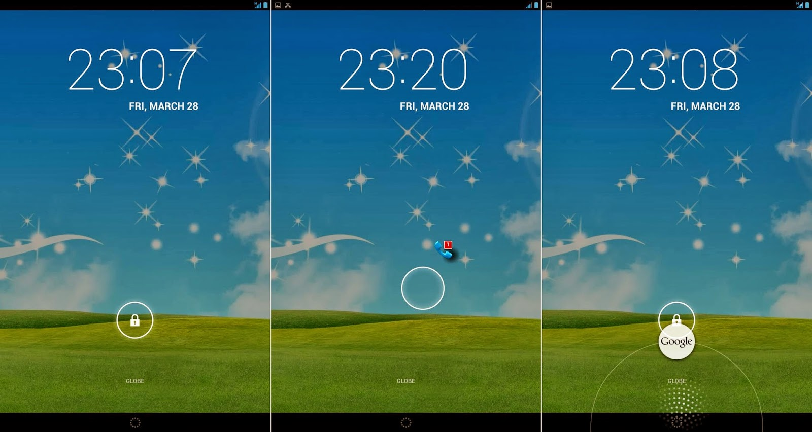 Qube PhoneTab Review: Double The Fun Lockscreen