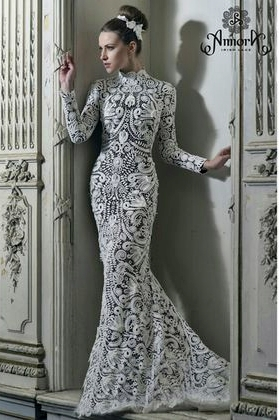suknia z koronki irlandzkiej