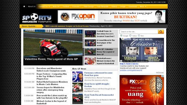FREE Sporty Magazine 2 Blogger Template