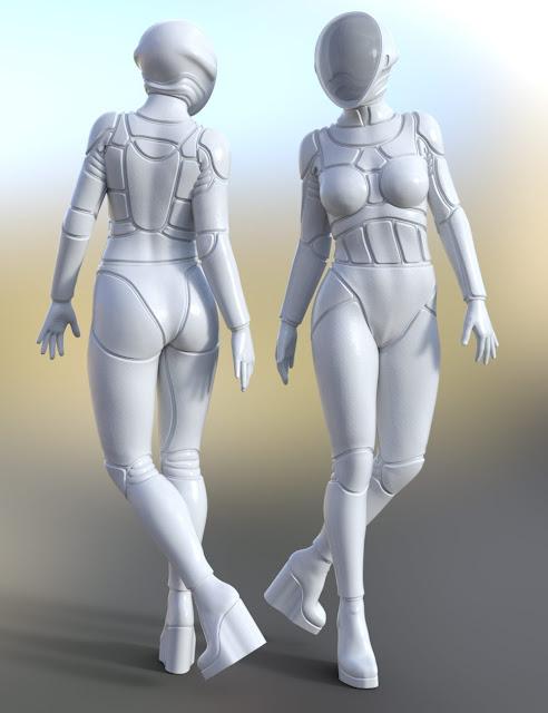 Epsilon Bodysuit for Genesis 3 Female