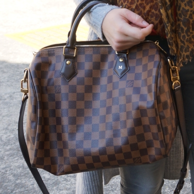 Louis Vuitton Damier Ebene 30 speedy bandouliere with heatstamp | awayfromtheblue