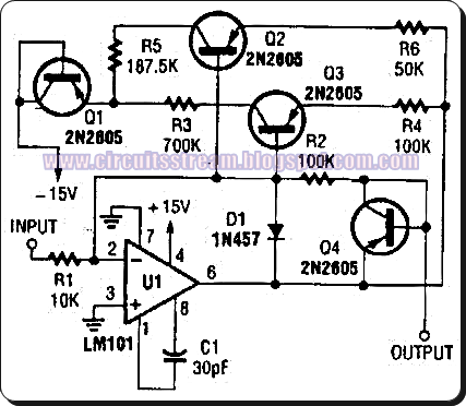 Simple Nonlinear Operational Amplifier Circuit Diagram