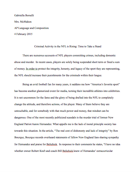 my ap language and composition experience   i was able to put together an annual essay quite the contrary from my experiences in term 1 which i consider to be one of my best pieces of writing