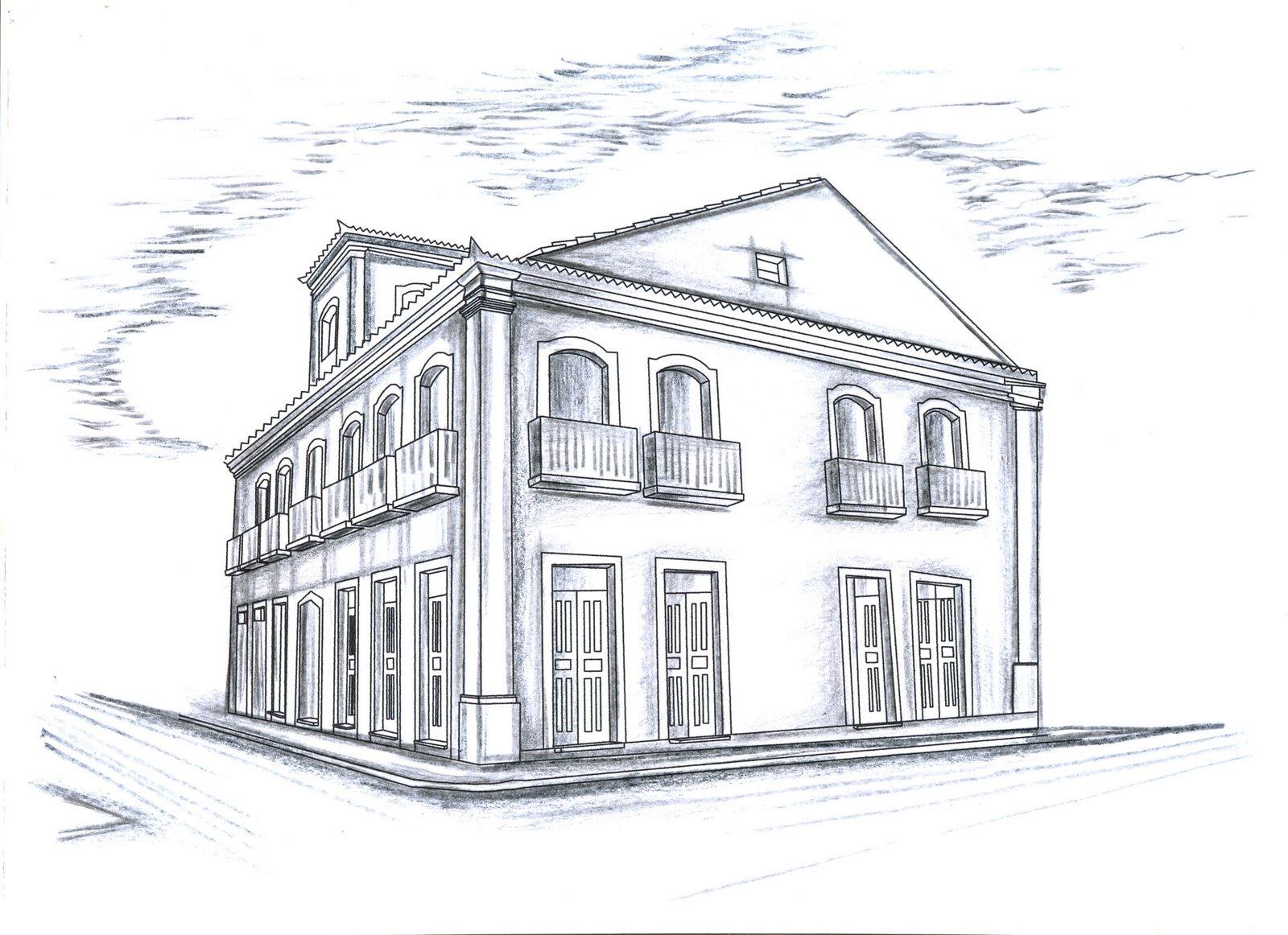 Modelos de casas desenhos preto e branco para colorir - Casa para pintar ...