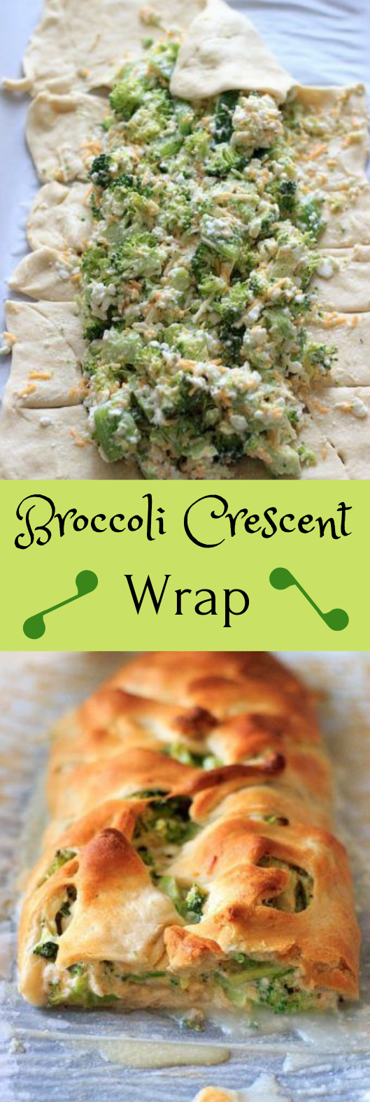 Broccoli crescent wrap #vegetarian #broccoli