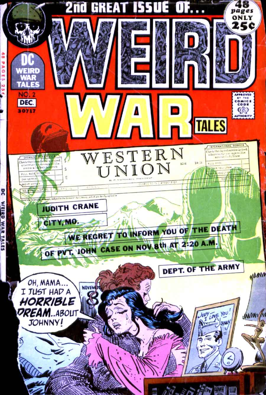 Weird War Tales v1 # 2dc bronze age comic book cover art by Joe Kubert