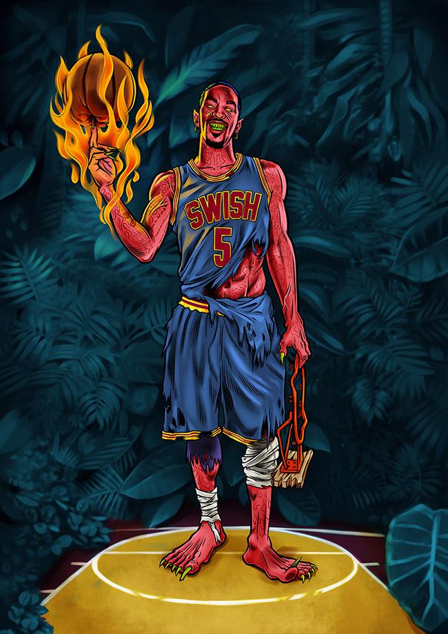 BamBamBam - #YellowMenace Basketball Art Collection