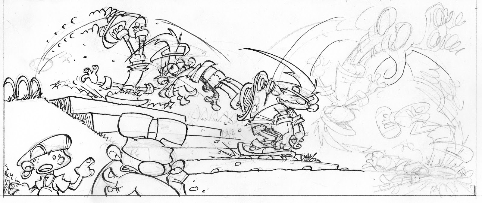 diary of a cartoonist  how to draw action in cartoons