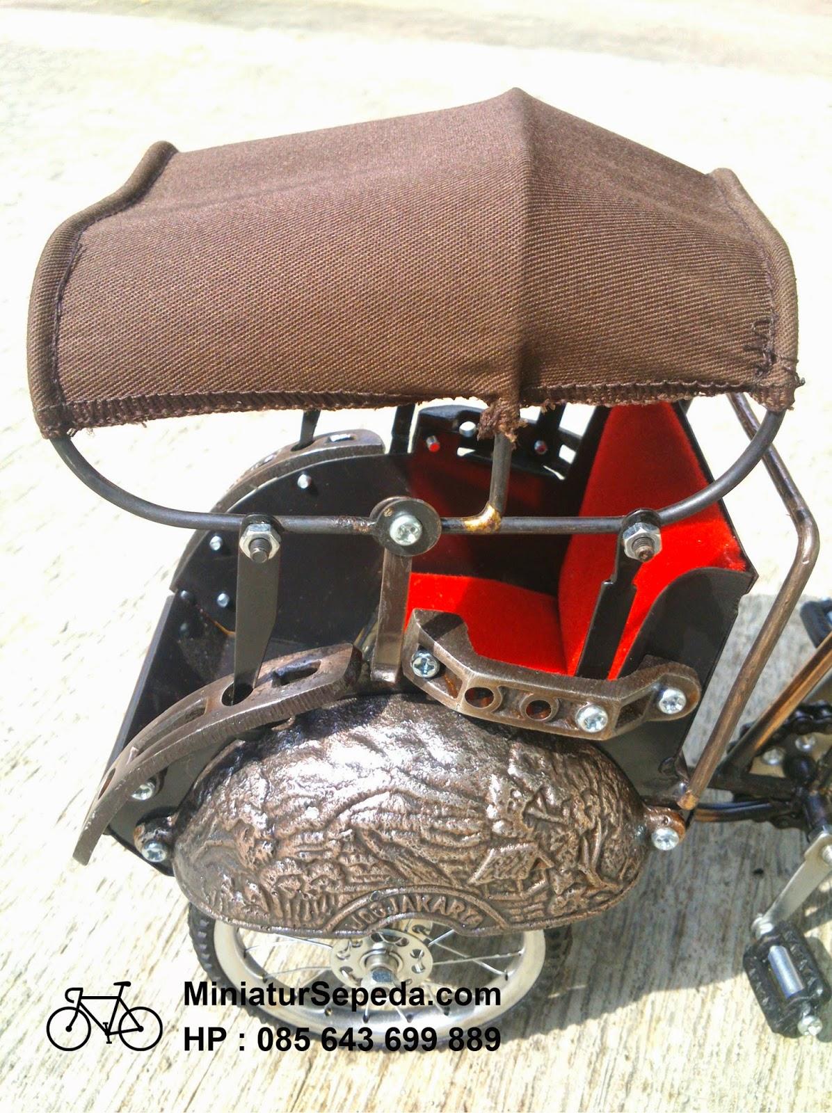 Miniatur Becak Yogyakarta