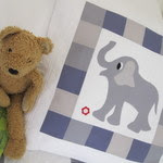 Joyful Elephant cushion pattern