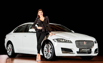 Jaguar XF With Jacqueline Fernandez launching event India