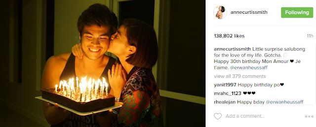 Anne Curtis Made Erwan Heusaff Very Happy When She Did This On His 30th Birthday! Must Watch!