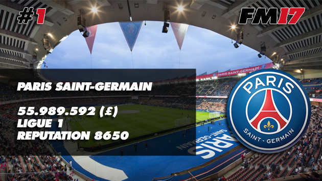 Football Manager 2017 Paris Saint-Germain Transfer Budget