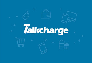 Talkcharge logo, tricksrewards.