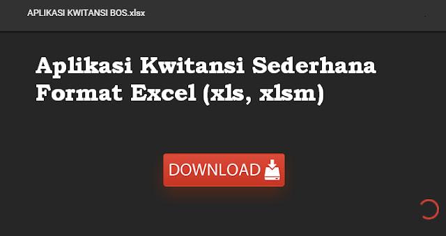 Download Aplikasi Kwitansi Excel