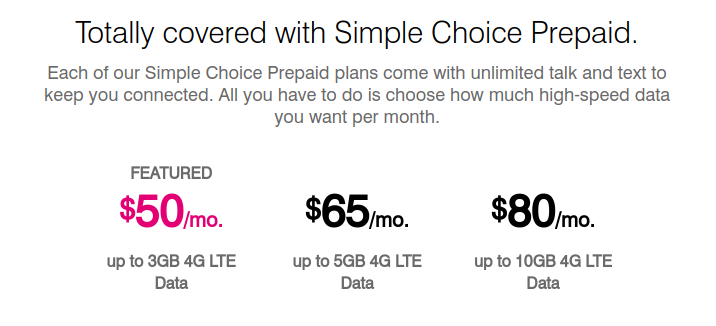 Updated: Two T-Mobile Simple Choice Prepaid Plans <b>Did Not