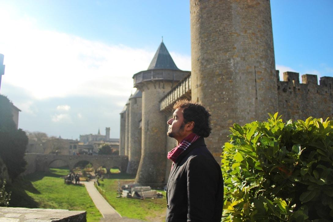 Momento de sol no Cité de Carcassonne.