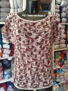 limpido in vista ultimi progetti diversificati nuovo concetto Lana e Cotone (maglia e uncinetto): Maglia a punto spuma di mare