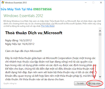 Cấu hình windows live mail 2012 - H06