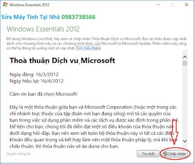 Cấu hình windows live mail 2012 - H06