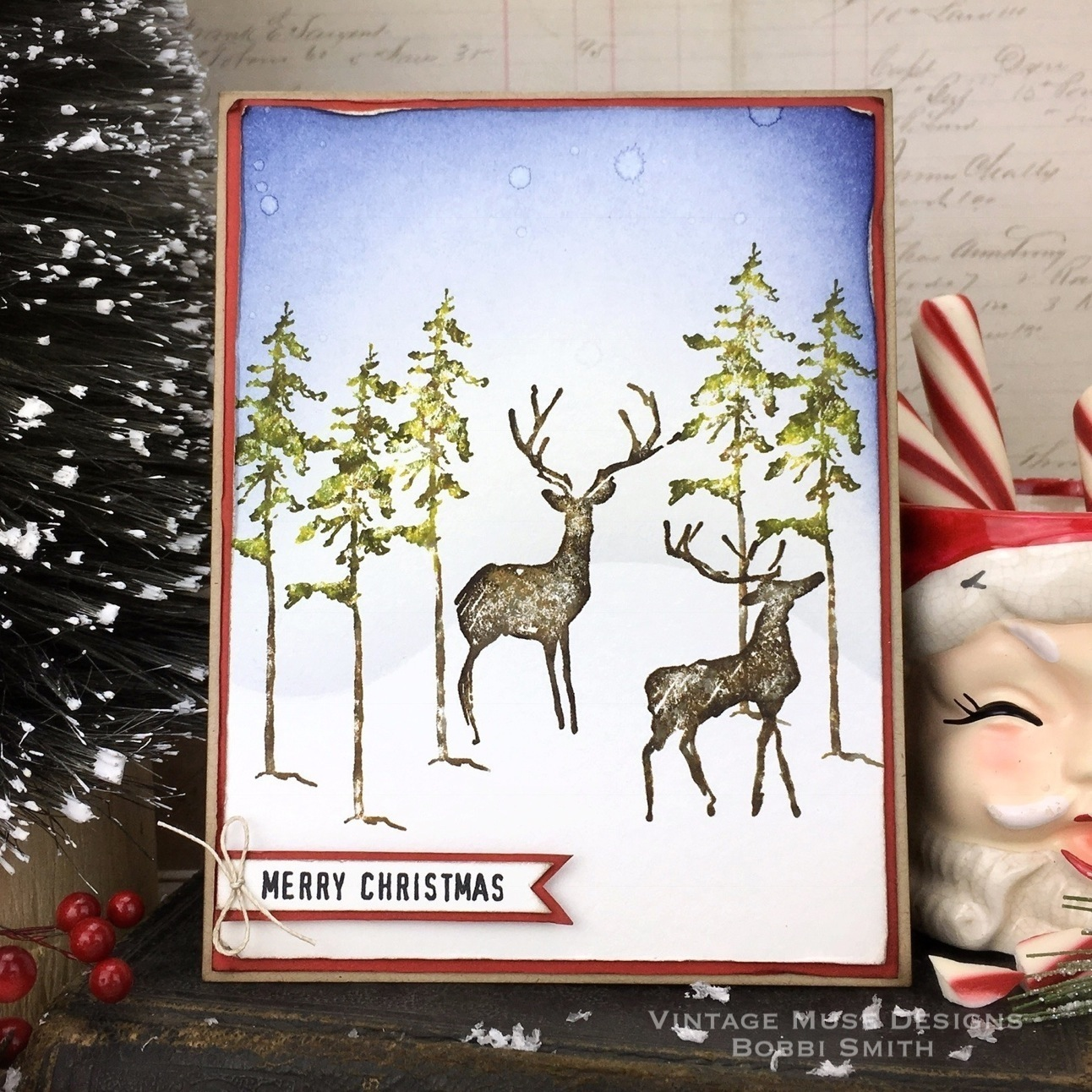 Vintage Muse Designs: Great Outdoors Merry Christmas Card...