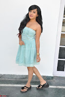 Sahana New cute Telugu Actress in Sky Blue Small Sleeveless Dress ~  Exclusive Galleries 028.jpg