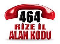 0464 Rize telefon alan kodu