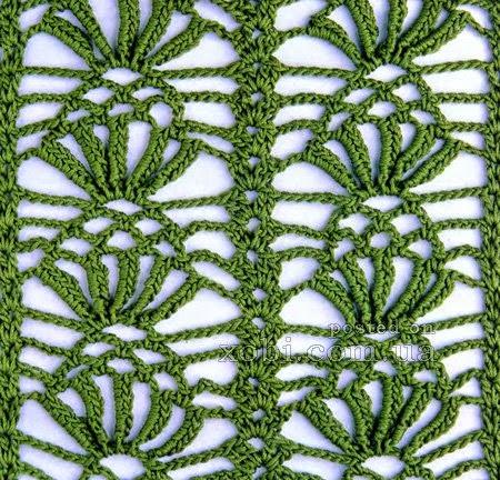 Punto crochet con esquema #14