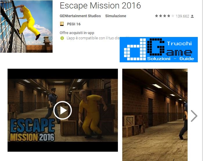 Soluzioni Escape Mission 2016 livello  1  2  3  4  5  6  7  8  9 10 | Trucchi e  Walkthrough level