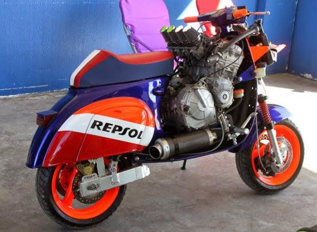 Vespa Repsol CBR 1000 cc