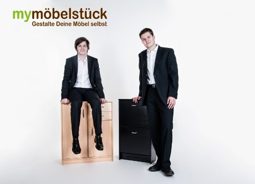 Die My Möbelstück Gründer Dominic Lindner und Martin Weber.