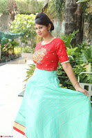 Lucky Shree Looks super cute in Bright Red Green Anarkali Dress ~  Exclusive 040.JPG