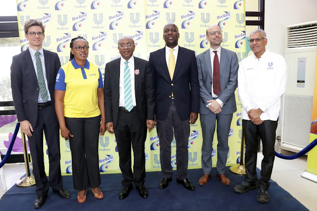Gov. Ibikunle Amosun and Godwin Emefiele lead stakeholders to unveil Unilever Nigeria?s new manufacturing plant