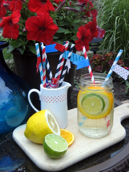 Sangria Recipe Patriotic Straws