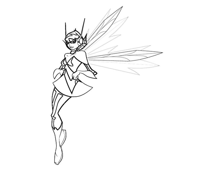 wasp avengers coloring pages - photo#12