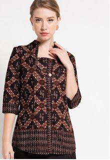 Baju Batik Lengan Panjang Modern Untuk Wanita Muda