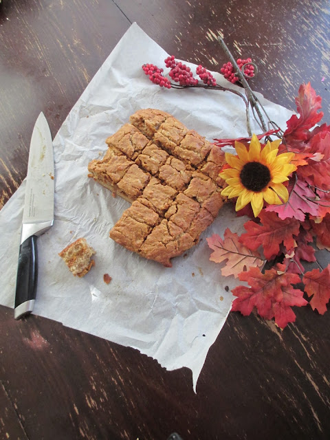Pumpkin Cream Cheese Blondies