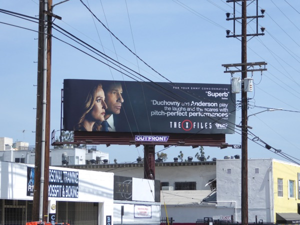 X-Files 2016 Emmy consideration billboard