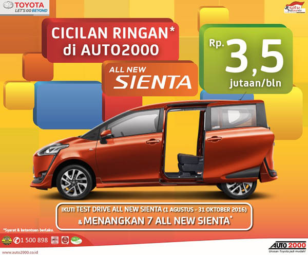 promo kredit toyota sienta angsuran 3 5 jutaan per bulan. Black Bedroom Furniture Sets. Home Design Ideas