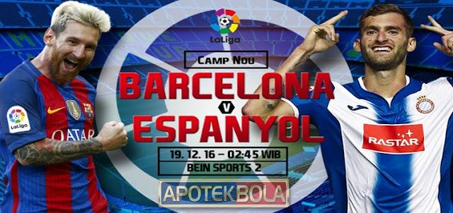 Prediksi Pertandingan Barcelona vs Espanyol 19 Desember 2016
