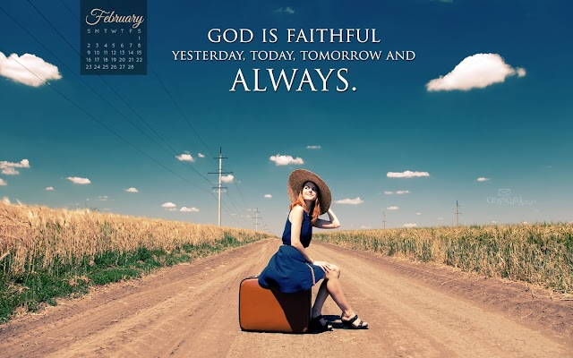 2014 February Bible Verse Desktop Calendars