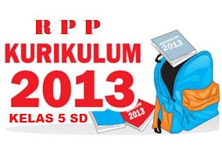 RPP Kelas 5 Kurikulum 2013